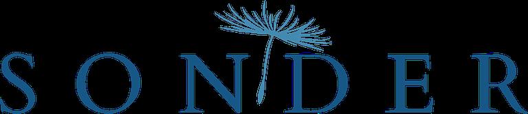 Sonder Hospice Austin Logo Text in Dark Blue