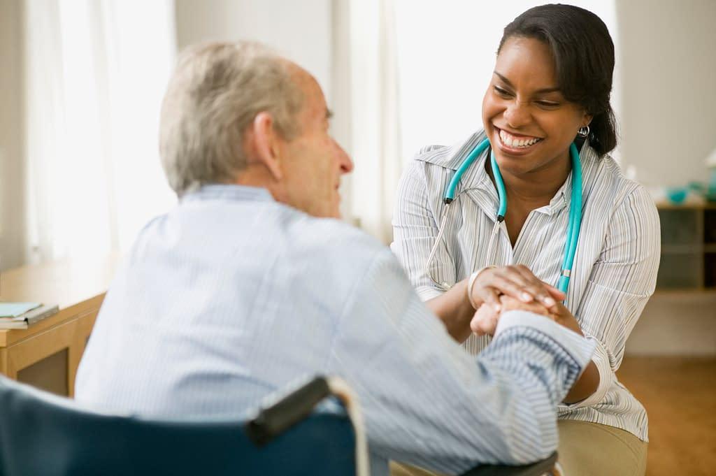 Decorative Image - Nurse and elderly man spending time together